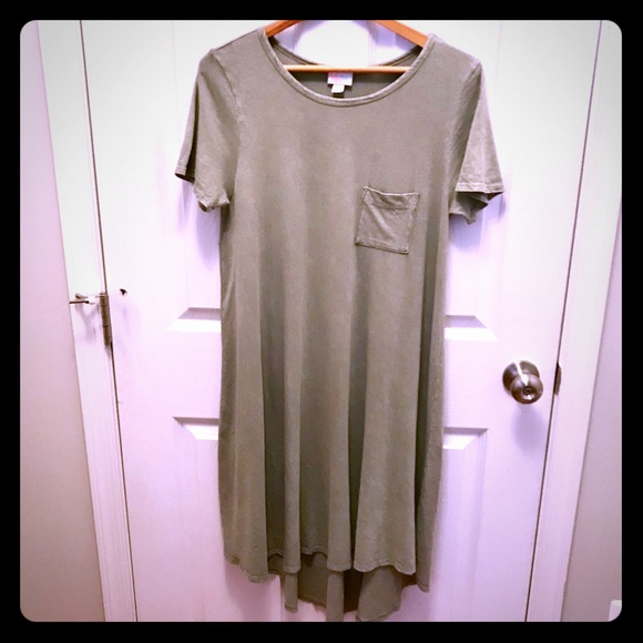 5fea03b8894 LuLaRoe Dresses   Skirts - Lularoe Carly Dress Small in distressed sage  green
